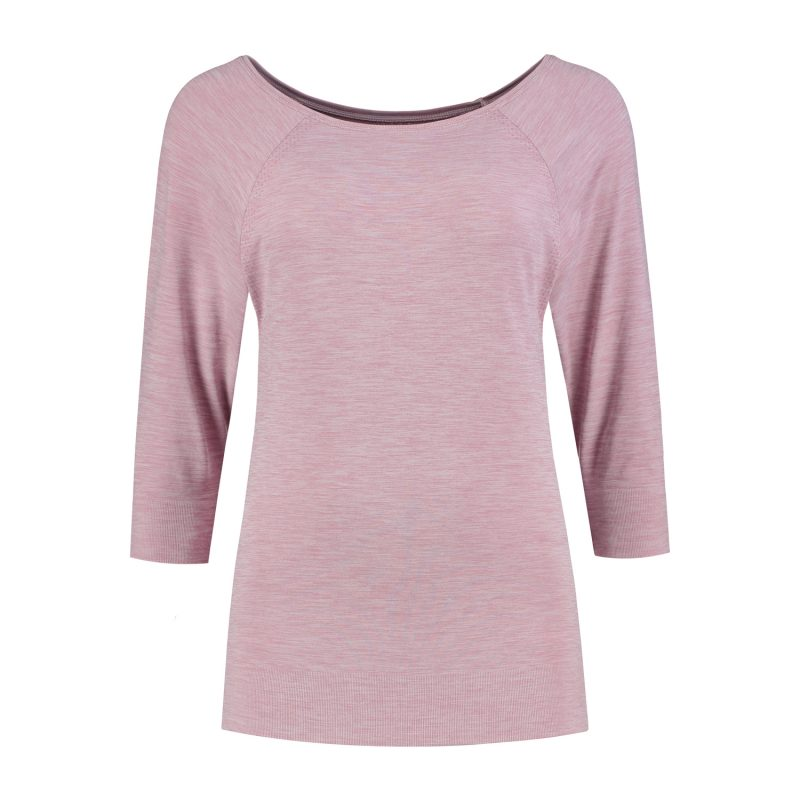 shirt 3-4 sleeve rose_Front